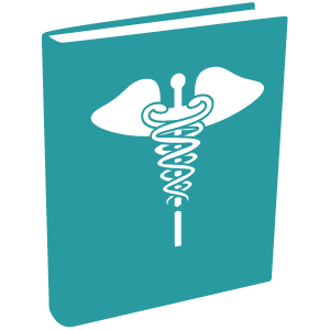 Book with medical symbol