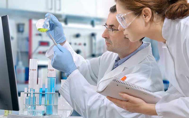 Doctors in a lab