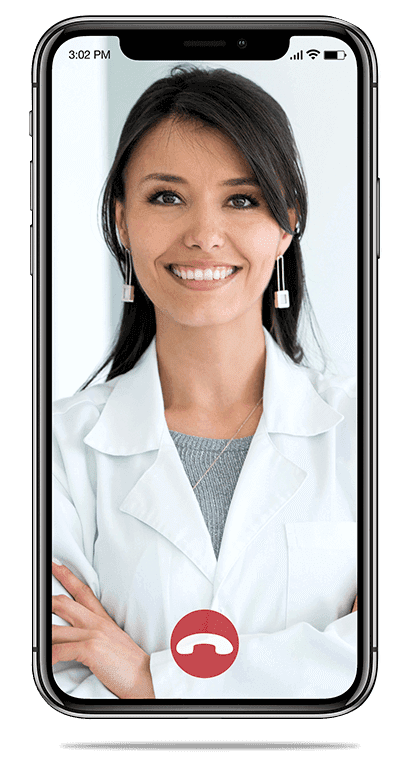 Doctor smiling over a video call